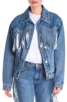 MSGM Fringed Denim Jacket