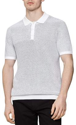 Reiss Holden Textured Slim Fit Polo Shirt