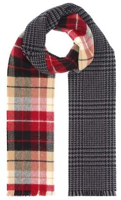 Miu Miu Plaid wool-blend scarf