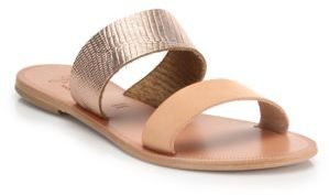 Joie Sable Two-Tone Leather Sandals $125 thestylecure.com
