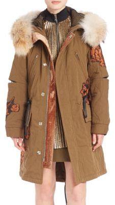 3.1 Phillip Lim3.1 Phillip Lim Quilted Fur-Trim Utility Coat