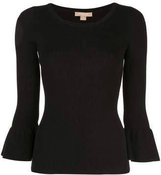 Michael Kors peplum sleeve fitted sweater