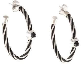 Charriol Spinel Noir Hoop Earrings
