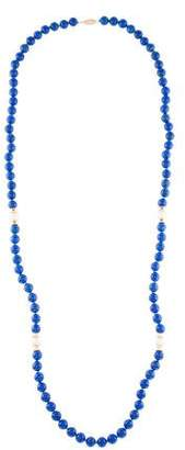 Lapis 14K & Pearl Bead Necklace