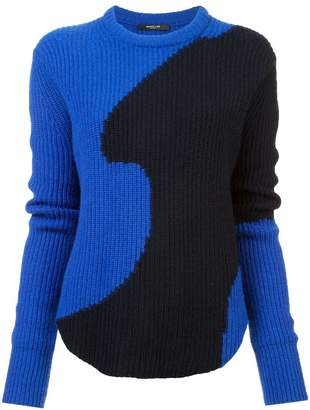 Derek Lam Colorblocked Ribbed Cashmere Sweater