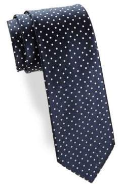 Charvet Medium Dot Silk Tie