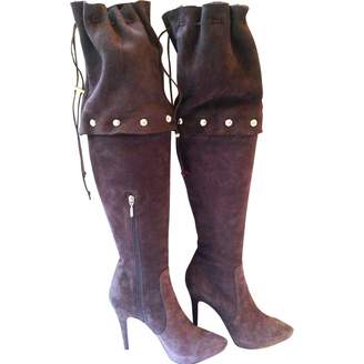 Cesare Paciotti Brown Leather Boots