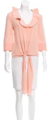 Balenciaga Tie-Accented Silk Blouse