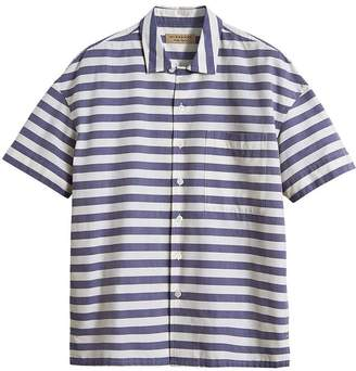 Burberry Short-sleeve Striped Cotton Shirt