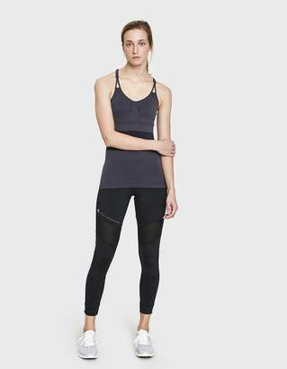 adidas by Stella McCartney Seamless Training Tank in Night Steel