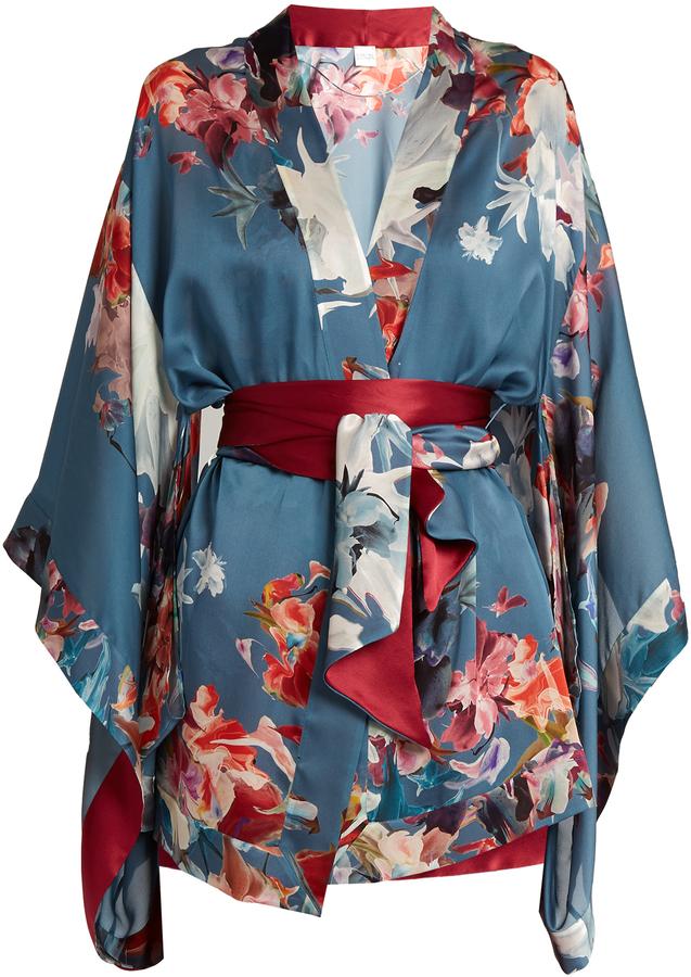 Carine GilsonCARINE GILSON Wonderland-print silk-satin robe