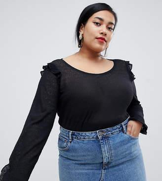 Junarose frill detail blouse