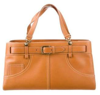 Christian Dior Leather Top Handle Bag