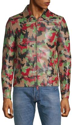 Valentino Men's Camouflage Leather Jacket