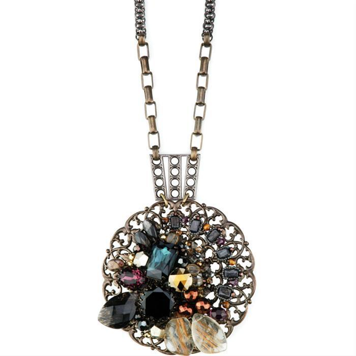 Jeweled Medallion Necklace by Miriam Haskell