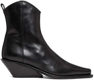 Ann Demeulemeester Black Chunky Heel Boots