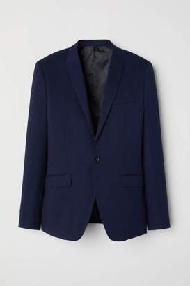 H&M Textured Blazer Skinny fit - Dark blue - Men