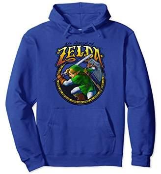 Nintendo Zelda Fancy Script Fighting Stance Graphic Hoodie