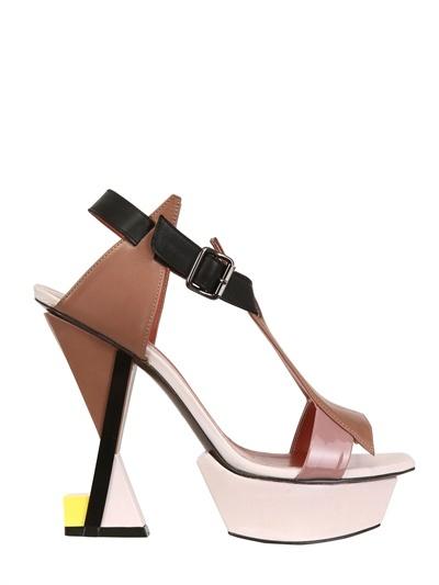 Heavy Machine 125mm Patent Leather Geometric Sandals