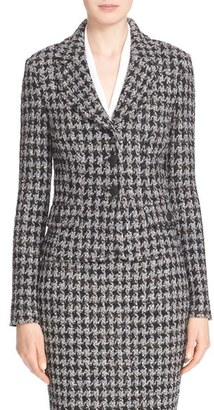 Women's St. John Collection 'Anissa' Houndstooth Knit Jacket $1,595 thestylecure.com