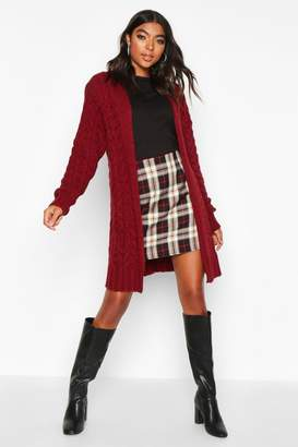 boohoo Tall Soft Knit Cable Cardigan
