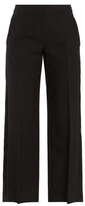 Alexander McQueen High Rise Wide Leg Trousers - Womens - Black