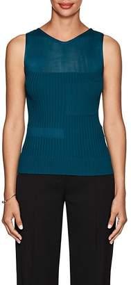 Narciso Rodriguez Women's Sheer-Detail Rib-Knit Top