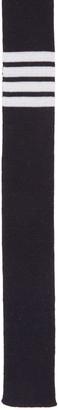 Thom Browne Navy Knit Four Bar Tie $235 thestylecure.com