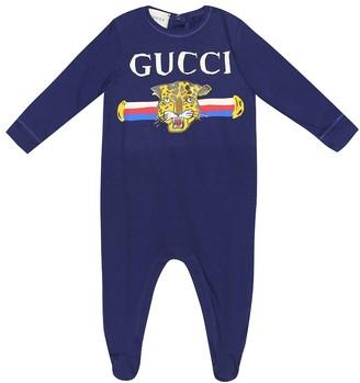 Gucci Kids Baby printed cotton onesie