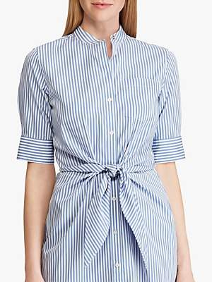 Ralph Lauren Ralph Wilda Striped Shirt Dress, Blue/White
