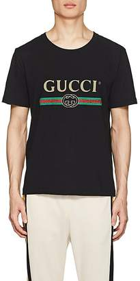 Gucci Men's Logo-Print Cotton Short-Sleeve T-Shirt
