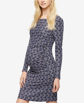 Seraphine Maternity Ruched Sheath Dress