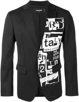 DSQUARED2 Manchester printed blazer