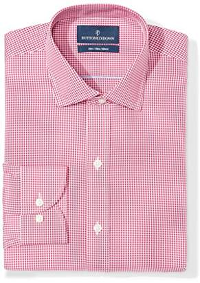 Buttoned Down Men's Slim Fit Gingham & Stripe Non-Iron Dress Shirt