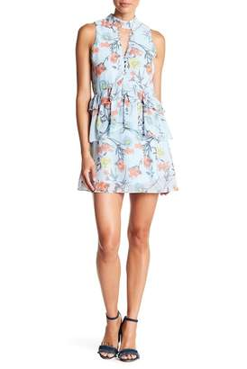 Aiden Layered Ruffle Floral Print Dress