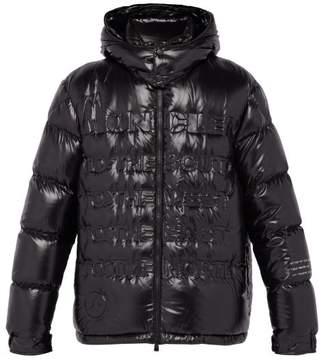 Moncler 7 Fragment - Hooded Debossed Glossed Nylon Down Jacket - Mens - Black