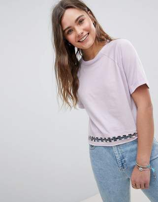Brave Soul T Shirt with Ring Detail at Hem