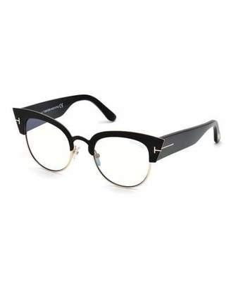 Tom Ford Alexandra Cat-Eye Metal & Acetate Optical Frames