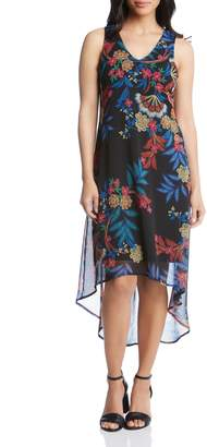 Karen Kane High/Low Overlay Hem Dress