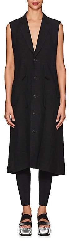 Regulation Yohji Yamamoto Women's Basket-Weave Linen Drawstring Vest