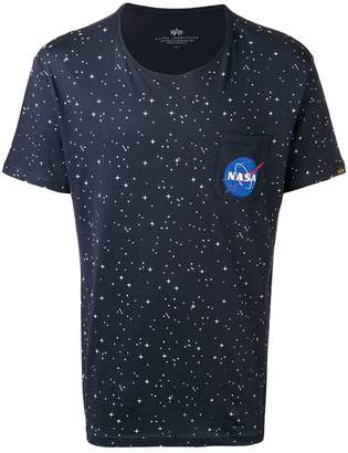 Alpha Industries galaxy print T-shirt