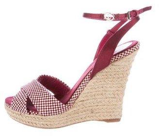 Christian Dior Check Espadrille Sandals