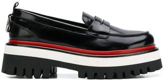 MSGM ridged pltform loafers