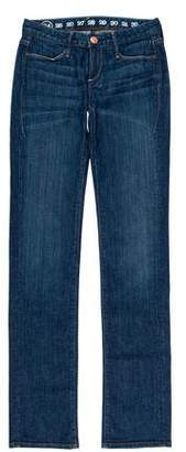 Earnest Sewn Mid-Rise Straight-Leg Jeans w/ Tags