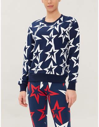 Perfect Moment Starlight cropped cotton-jersey sweatshirt