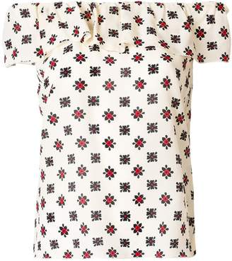 RED Valentino printed off shoulder top