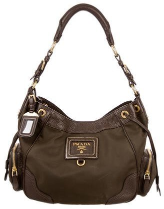 prada Prada Vitello Daino & Tessuto Shoulder Bag