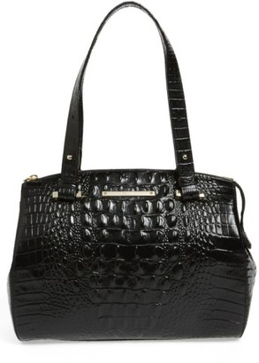 Brahmin Small Alice Melbourne Leather Satchel - Black $285 thestylecure.com