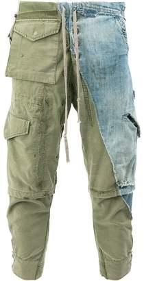 Greg Lauren denim cargo trousers