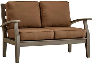 Inspire Q Torrey Pines Wood Patio Loveseat With Cushions